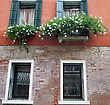 Old Window With Shutters, Beautiful Background For A Card stock image