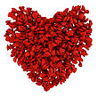 One Big Red Heart Made Of Many Small Hearts, 3d