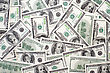 One Hundred Dollar Bills, Money Background Close-up stock photography