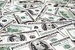 One Hundred Dollar Bills, Money Background Close-up stock image
