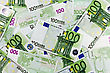 One Hundred Euros Background (European Currency Banknotes)