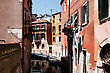 Bridges One Of The Many Canals Of Venice, Italy stock photo