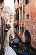 Exterior One Of The Many Canals Of Venice, Italy stock photography