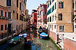 One Of The Many Canals Of Venice, Italy stock photo