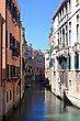 One Of Narrow Canal In Venice. Italy. Europe. stock photography