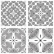 Op Art Monochromatic Patterns, Abstract Seamless Textures