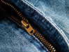 Open Denim Zipper stock image