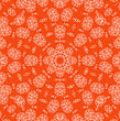 Orange Background With Abstract Radial White Pattern