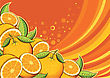 Orange Fruits Background.Vector Illustration