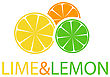Orange, Lemon And Lime Logo Design stock vector