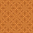 Orange Ornamental Seamless Line Pattern. Endless Texture. Oriental Geometric Ornament
