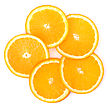 Orange Slices Isolated On White Background stock photo