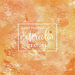 Orange And Yellow Pastel Watercolor On Tissue Paper Pattern. Vector