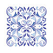 Oriental Vector Square Ornament With Arabesques Elements. Traditional Classic Ornament. Vintage Pattern With Arabesques