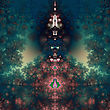 Original Fractal Design, Abstract Psychedelic Art, Green Fairy Tale