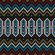 Ornamental Folk Knitted Textile, Seamless Pattern