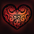 Ornamental Heart. Love. Hand Drawn Vector Background