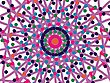 Ornamental Round Mandala Pattern In Colors