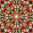 Ornamental Round Seamless Pattern With Many Details