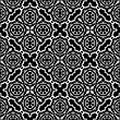 Ornamental Seamless Line Pattern. Endless Texture. Oriental Geometric Ornament