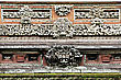 Ornate Wall Of Taman Ayun Temple, Bali stock photography