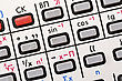 Pad Of Old Calculator With Mathematic Symbols stock photo