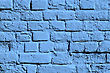 Painted Blue Old Brick Wall stock photography
