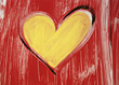 Painted Heart - Symbol for Love stock photography