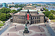 Panorama Of Dresden, Germany. Semper Opera House, Cityscape. Skyline