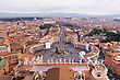 Panorama Of Vatican And Rome . Skyline Aerial View