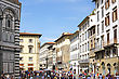 Panorama View Of Florence, Italy. Historical Center stock image