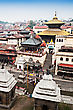 Panorama View Of Pashupatinath Temple And Cremation Ghats, Khatmandu stock image