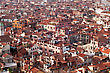 Panoramic View Of Towns Roofs Of Venice, Italy stock image