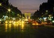 Lit Paris at Night, France stock photography