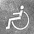 Disability Parking Places With Disabled Signs On Asphalt. Vector Illustration stock vector