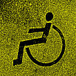 Parking Places With Disabled Signs On Asphalt. Vector Illustration