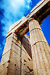 Parthenon Close Up At Acropolis In Athens, Greece