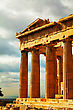 Parthenon Close Up At Acropolis In Athens, Greece stock photography