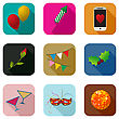 Party Icons Set For The Apps