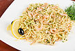Pasta With Shrimps Lemon And Olive - Tasty Dish