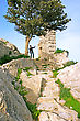 Path To The Top Of Mountain From Kantara Castle In Northern Cyprus.The Origins Of The Castle Go Back To The 10th Century.