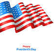 Patriotic Background With Flag USA Waving Wind For Happy, American Symbolic Vintage Decoration For Holiday - Vector