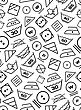 Pattern Created From Laundry Washing Symbols On A White Background. Seamless Vector Illustration stock illustration
