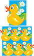 Pattern For Children (yellow Funny Ducks