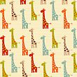 Pattern With Giraffes, Illustration In Vector Format