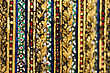 Pattern Of Mirror Mosaic On The Wall In Grand Palace, Bangkok, Thailand stock image