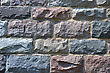 Pattern Of Old Stone Wall Surfaced stock image