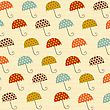 Pattern With Umbrellas, Illustration In Vector Format