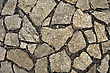Pavement Of Granite Blocks And Black Gravel (texture stock photo