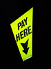 Pay Here Sign stock image